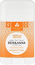 "Voňavky, Parfémy, kozmetika Deodorant na báze sódy ""Vanilka a orchidea"" (plastický) - Ben & Anna Natural Soda Deodorant Vanilla Orchid"