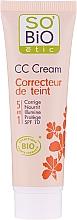 Voňavky, Parfémy, kozmetika CC krém, 5 v 1 SPF 10 - So'Bio Etic CC Cream