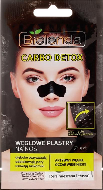 Uhlíkové nosové nálepky - Bielenda Carbo Detox