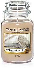 """Voňavky, Parfémy, kozmetika Vonná sviečka """"Tmavý kašmír"""" - Yankee Candle Warm Cashmere"""