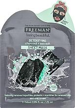 "Voňavky, Parfémy, kozmetika Maska- detox na tvár ""Uhlie a morská soľ"" - Freeman Detoxifying Sheet Mask"
