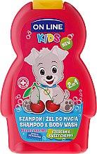 """Voňavky, Parfémy, kozmetika Šampónový sprchový gél """"Víšňa"""" - On Line Kids Cherry Shampoo & Body Wash"""