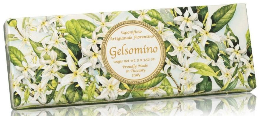 "Sada prírodného mydla ""Jasmine"" - Saponificio Artigianale Jasmine Scented Soap (soap/3pcsx100g)"
