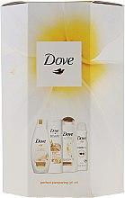 Voňavky, Parfémy, kozmetika Sada - Dove Perfect Pampering (sh/gel/250ml + b/lot/250ml + shmp/250/ml + deo/150ml)
