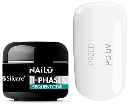 Voňavky, Parfémy, kozmetika Gél na nechty - Silcare Nailo 1-Phase Gel UV Sequent Clear