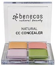 Voňavky, Parfémy, kozmetika Paleta korektorov na tvár - Benecos Natural CC Concealer