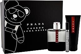 Voňavky, Parfémy, kozmetika Prada Luna Rossa Carbon - Sada (edt/100ml + sh/gel/100ml + edt/10ml)