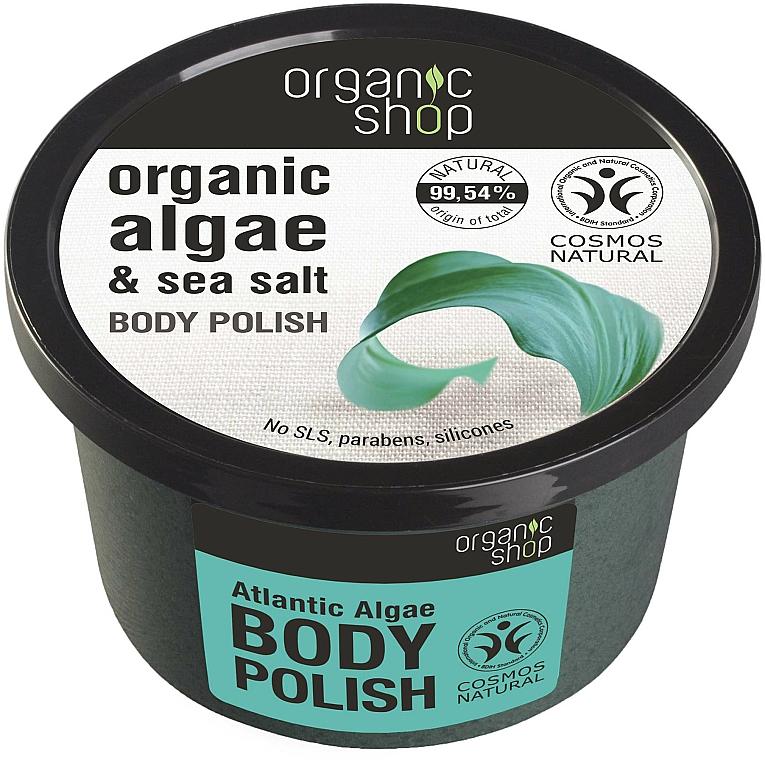 """Telový peeling """"Atlantické riasy"""" - Organic Shop Body Scrub Organic Algae & Sea Salt — Obrázky N1"""