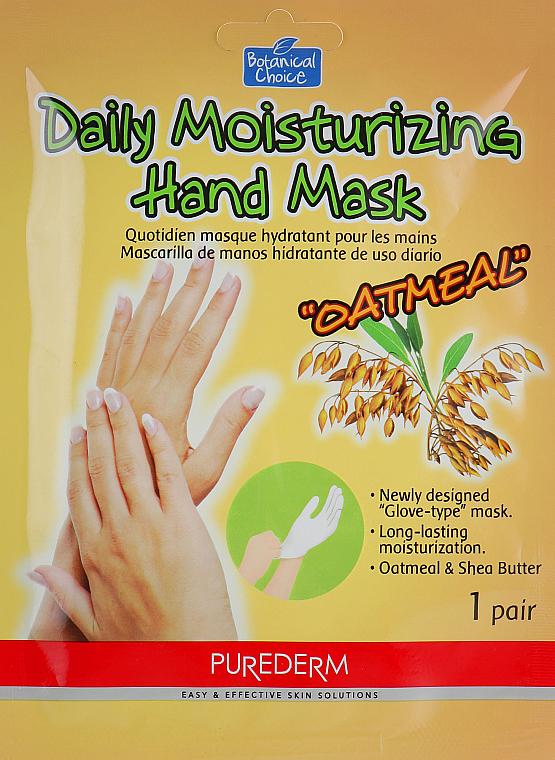 Maska na ruky vo forme rukavíc - Purederm Daily Moisturizing Hand Mask Oatmel