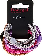 Voňavky, Parfémy, kozmetika Gumičky do vlasov Glossy, 10 ks - Donegal