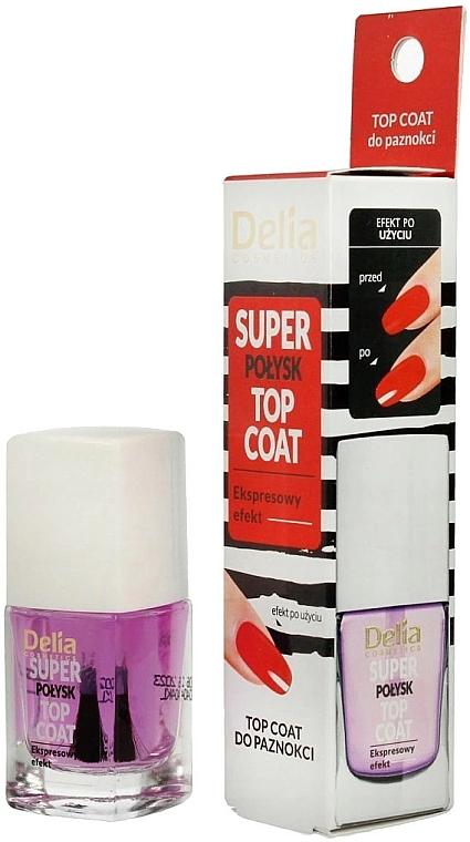 Fixátor laku s mega-lesklým efektom - Delia Super Gloss Top Coat