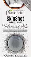 """Voňavky, Parfémy, kozmetika Normalizačná maska """"Vulkanický popol"""" - Bielenda Skin Shot Volcanic Ash"""
