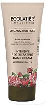 """Voňavky, Parfémy, kozmetika Krém na ruky """"Mladosť a krása"""" - Ecolatier Organic Wild Rose Intensive Regenerating Hand Cream"""