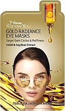 """Voňavky, Parfémy, kozmetika Maska na kontúry očí """"Zlatý lesk"""" - 7th Heaven Renew You Gold Radiance Eye Masks"""