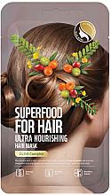 Voňavky, Parfémy, kozmetika Ultra výživná maska na vlasy s olivovým extraktom - Superfood For Skin Hair Mask With Olive Cloth