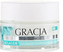 Voňavky, Parfémy, kozmetika Výživný krém proti vráskam s morským kolagénom a elastínom - Gracja Sea Collagen And Elastin Anti-Wrinkle Day/Night Cream