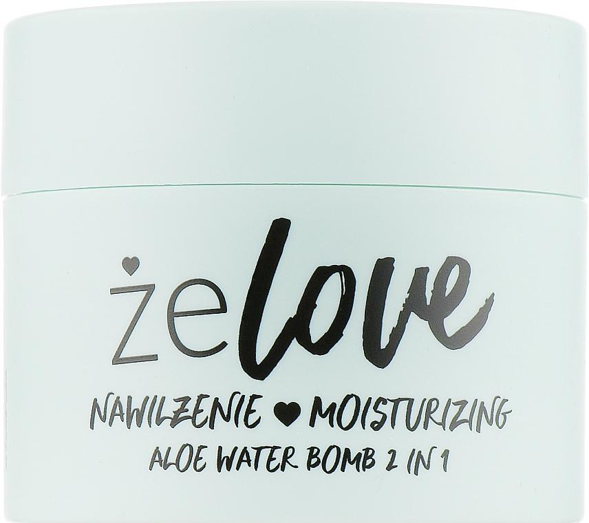 Hydratačný gél na tvár, krk a dekolt - FlosLek ZeLove Moisturizing Aloe Water Bomb 2in1