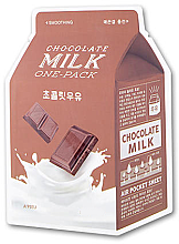 """Voňavky, Parfémy, kozmetika Látková maska """"Čokolada"""" - A'pieu Chocolate Milk One-Pack Soothing"""