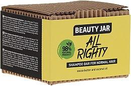 Voňavky, Parfémy, kozmetika Tuhý šampón pre normálne vlasy s kokosovým a kakaovým maslom - Beauty Jar Hair Care All Righty Shampoo