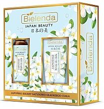 Voňavky, Parfémy, kozmetika Sada - Bielenda Japan Beauty Jasmine Extract And Tsubaki Oil (b/oil/400ml + body/cr/200ml)
