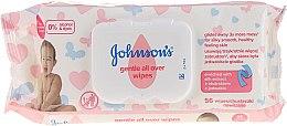 """Voňavky, Parfémy, kozmetika Vlhčené obrúsky """"Jemná starostlivosť"""", hypoalergénne, 56ks - Johnson's® Baby"""