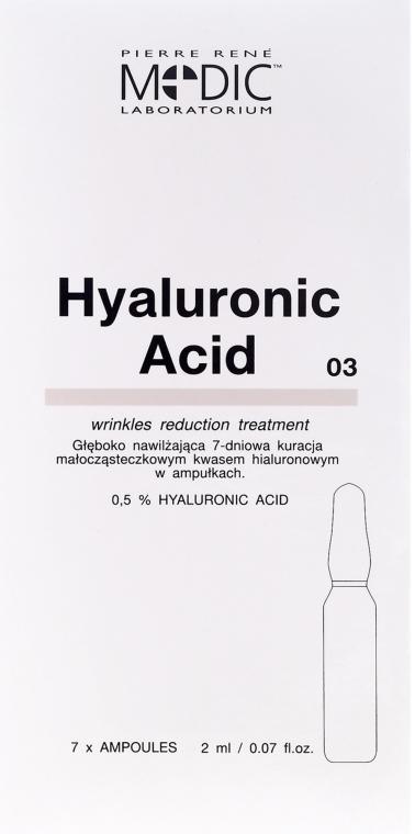 "Ampulky na tvár ""Kyselina hyalurónová"" - Pierre Rene Medic Laboratorium Vital Serum"