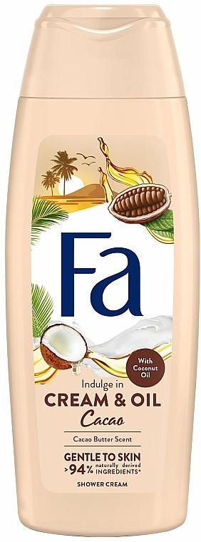 """Krém-gél pre sprch """"Kakaové maslo a kokosové"""" - Fa Cacao Butter And Coco Oil"""