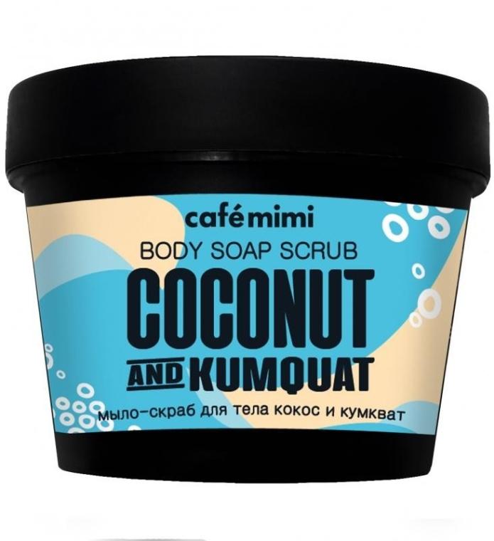 """Mydlo-peeling na telo """"Kokos a Kumquat"""" - Cafe Mimi Scrub-Soap"""