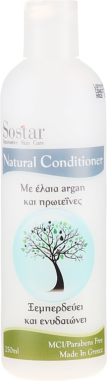 Hydratačný vlasový kondicionér - Sostar Focus Argan Oil & Protein Conditioner