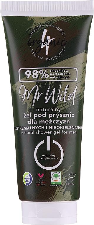 Pánsky sprchový gél - 4Organic Mr. Wild Man Shower Gel