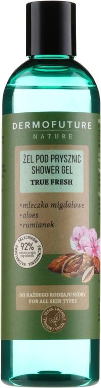 """Sprchový gél """"Mandľové mlieko, aloe vera, harmanček"""" - Dermofuture Nature Shower Gel True Fresh"""
