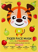 """Voňavky, Parfémy, kozmetika Textilná maska na tvár """"Tiger"""" s jablkovým a jahodovým extraktom - 7th Heaven Face Food Tiger Face Mask Apple & Strawberry"""