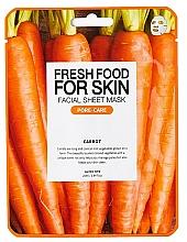 Voňavky, Parfémy, kozmetika Textilná maska na tvár Mrkva - Fresh Food For Skin Facial Sheet Mask Carrot Pore Care