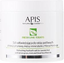 Voňavky, Parfémy, kozmetika Osviežujúca soľ do kúpeľa - APIS Professional Fresh Lime Terapis Refreshing Footbath Salt