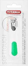 Voňavky, Parfémy, kozmetika Zastrihávač nechtov pochrómovaný, biely so zelenou farbou - Titania