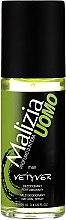 Voňavky, Parfémy, kozmetika Parfumovaný deodorant v skle - Malizia Uomo Vetyver Natural Deodorant Spray