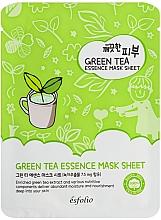Voňavky, Parfémy, kozmetika Textilná maska so zeleným čajom - Esfolio Pure Skin Green Tea Essence Mask Sheet