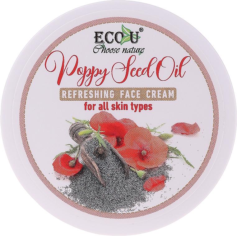 Osviežujúci krém na tvár s olejom z makových semien pre všetky typy pleti - Eco U Poppy Seed Oil Refreshing Face Cream For All Skin Type