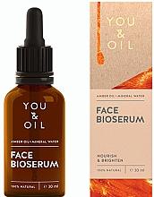 Voňavky, Parfémy, kozmetika Vyživujúce rozjasňujúce sérum na tvár - You & Oil Amber. Face Bioserum