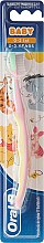 """Voňavky, Parfémy, kozmetika Zubná kefka, mäkká, """"Medvedík Pú"""", ružovo-žltá - Oral-B Baby"""