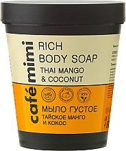 "Voňavky, Parfémy, kozmetika Tekuté mydlo ""Thajské mango a kokos"" - Cafe Mimi Soap"