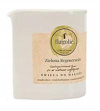 """Voňavky, Parfémy, kozmetika Masážna sviečka """"Revitalizujúca zelená"""" - Flagolie Green Regeneration Massage Candle"""