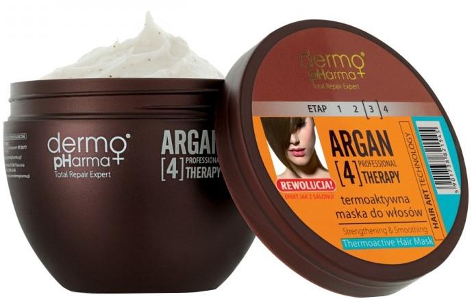 Termoaktívna maska na vlasy - Dermo Pharma Argan Professional 4 Therapy Strengthening & Smoothing Mask