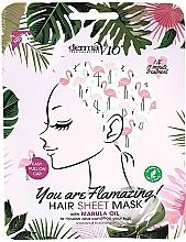 """Voňavky, Parfémy, kozmetika Maska na vlasy s marulovým olejom """"Flamingo"""" - Derma V10 Flamingo Print Hair Mask With Marula Oil"""