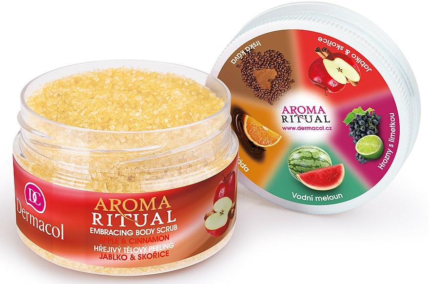 """Telový peeling """"Jablko a škorica"""" - Dermacol Aroma Ritual Body Scrub Apple & Cinnamon — Obrázky N4"""