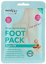 Voňavky, Parfémy, kozmetika Zjemňujúca maska na nohy vo forme ponožiek - Derma V10 Foot Mask Argan Oil