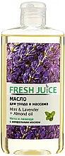 """Voňavky, Parfémy, kozmetika Olej na starostlivosť a masáž """"Mäta a levanduľa + mandľový olej"""" - Fresh Juice Energy Mint&Lavender+Almond Oil"""