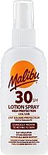 Voňavky, Parfémy, kozmetika Opaľovací lotion-sprej na telo - Malibu Sun Lotion Spray High Protection Water Resistant SPF 30