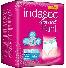 Voňavky, Parfémy, kozmetika Hygienické vložky, 12 ks - Indasec Discreet Pant Plus