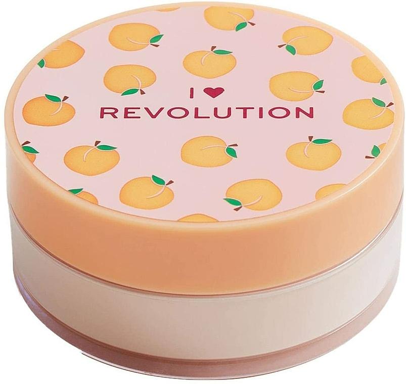 Sypký púder na tvár broskyňový - I Heart Revolution Loose Baking Powder Peach